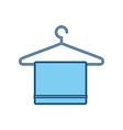 bath towel symbol vector image vector image