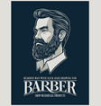 beard man for hairstyle products and business vector image vector image