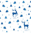 beautiful christmas print with reindeer and vector image vector image
