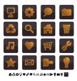 black and gold icons vector image vector image