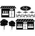 Black icon of cafe vector image vector image