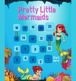 boardgame template with mermaid in the ocean vector image vector image