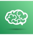 Brain icon mind medical symbol vector image