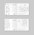 brochure with abstract connect background vector image
