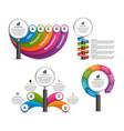 bundle infographic elements design vector image vector image