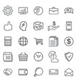 business abstract line icons modern web vector image vector image