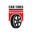 car tire logo design vector image vector image