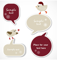 Christmas speech bubbles vector image vector image
