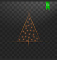 christmas tree made gold glitter bokeh lights and vector image vector image