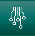 circuit board icon technology scheme symbol flat vector image vector image