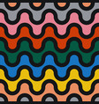colorful seamless wavy pattern - geometric vector image vector image