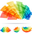 colorful set abstract element isolated on white vector image vector image