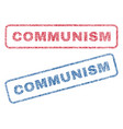 communism textile stamps vector image vector image