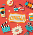 Concept of cinema vector image vector image