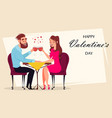 couple in love romantic evening in restaurant vector image vector image