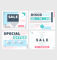 coupons for discounts in set vector image