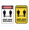covid19-19 danger sign set vector image vector image
