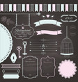 design elements set on chalkboard background vector image vector image