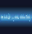 digital music waves vector image vector image