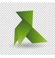 dog origami animal geometric isolatet vector image