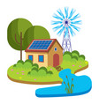 eco energy green energy vector image