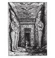 entrance to the great temple at abu simbel vector image vector image