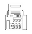 fax machine icon vector image vector image