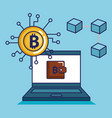 finance with bitcoin icons vector image vector image