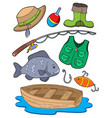 fishing equipment vector image