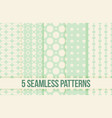 five seamless geometric patterns vector image vector image