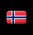 flag of norway matted icon and button vector image vector image
