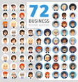flat businessmen round avatars big collection vector image vector image