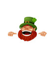 funny cartoon leprechaun character laughing and vector image vector image