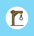 gallows icon sign symbol vector image