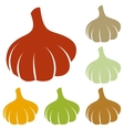 Garlic simple sign vector image vector image