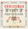 gift certificate in vintage grunge style vector image vector image