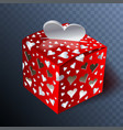 gift on valentin day transparent effects vector image vector image