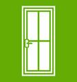 glass door icon green vector image vector image