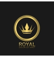 Golden Royal label vector image