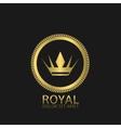 golden royal label vector image
