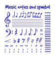 Handwritten musical notes vector image vector image