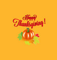 happy thanksgiving pumpkin background card vector image vector image