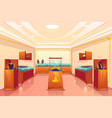 jewelery store with precious goods interior vector image vector image