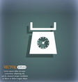 kitchen scales icon sign On the blue-green vector image vector image
