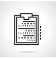 Medical clipboard black line icon vector image vector image