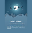 origami paper art poster christmas background vector image