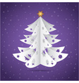 Paper origami christmas tree vector image