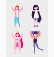 people community lgbtq flat design vector image