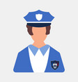 police worker icon woman worker cartoon style vector image
