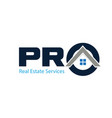 pro real estate service logo designs buy sell vector image